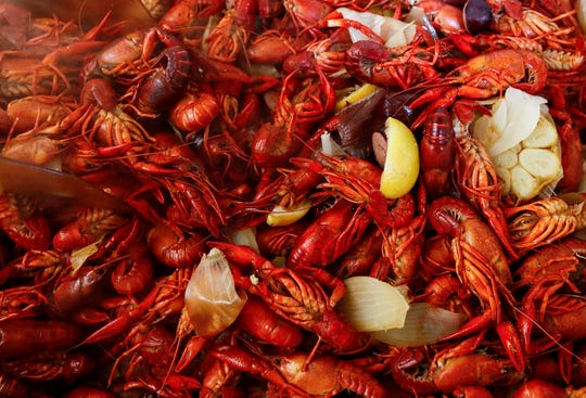 Cooked crawfish from Cajun Crawdad's food truck on Hwy. 72 at Cayce Rd. in Byhalia, MS.