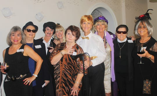 Murder mystery cast members are Annette Mennella, Rachel DeHanas, Cindy Crane, Lynn Tuttle, Trish Pease, Susie Walsh, Cindy MacQuarrie, Linda Sobelewski and Bonnie Bozzo.