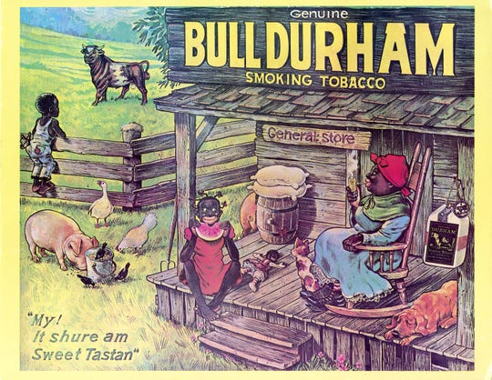 Racist advertising used in the past to sell, in this case, tobacco products.