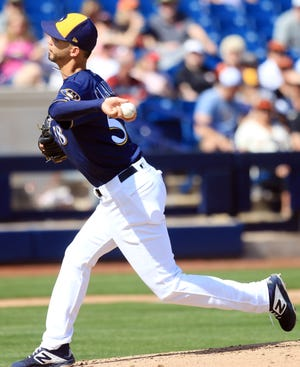 Reliever Alex Claudio is the total opposite of the Brewers other lefty in the bullpen, Josh Hader, as he is a soft-tossing sidewinder who depends on inducing groundballs.
