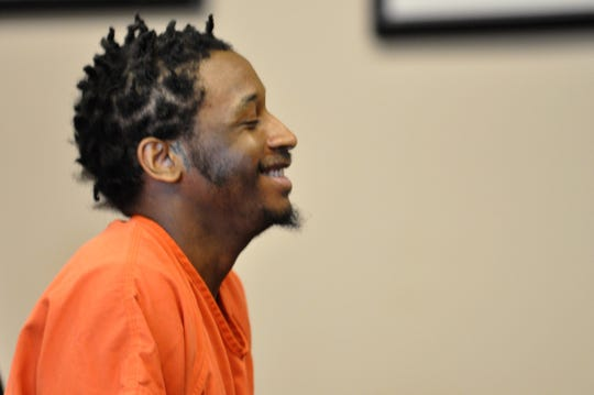 Niyoktron Martin smiles as he leaves an Ozaukee County courtroom on Friday, March 1. He was sentenced to 18 years in prison and 12 years of extended supervision for shooting 18-year-old Nikolis Wagner-Ridling in downtown Port Washington in May 2018.