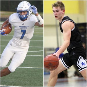 Brookfield Central students Julian Banda (left) and Gage Malensek were charged with multiple felony drug-related offenses. Banda, 17, and Malensek, 18, were both star players in their respective sports for the Lancers.