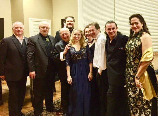 David Cangelosi, second from right, with a group of opera stars and pianists, some of whom will visit Montgomery for the 12th annual Vann Vocal Institute.