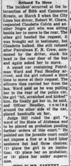 A Montgomery Advertiser account of Claudette Colvin's refusal to give up her seat was published on March 19, 1955.