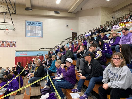 Central fans watch the game against Columbia City on Wednesday at Fort Wayne Wayne High School.