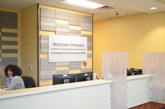The lobby of the new Veteran's clinic in Gallatin is pictured.