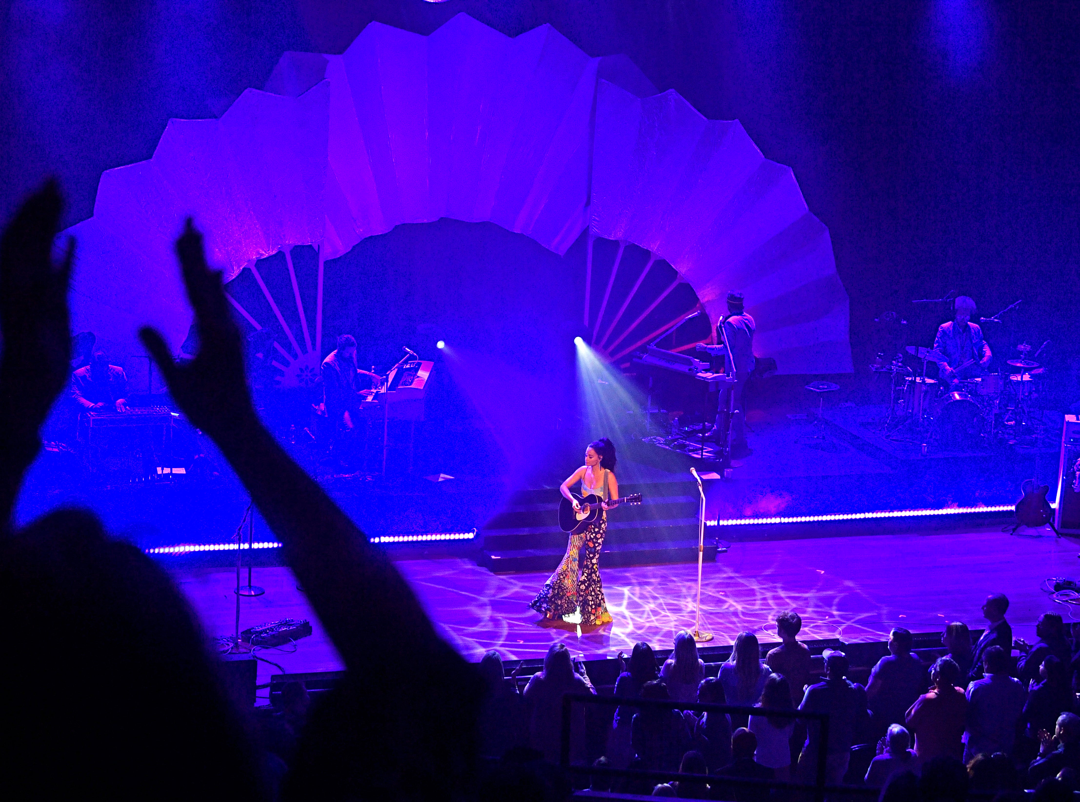 Kacey Musgraves brought her Oh, What A World: Tour to Ryman Auditorium Thursday, Feb. 28, 2019, in Nashville, Tenn.