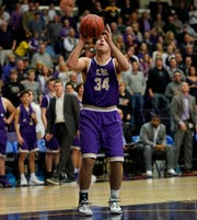 CPA guard Bryce McCormick shoots a basket late in the second half as they lose their semifinal game against Knoxville Webb in the TSSAA State Basketball Championships at Allen Arena Friday, March 1, 2019 in Nashville, Tenn.