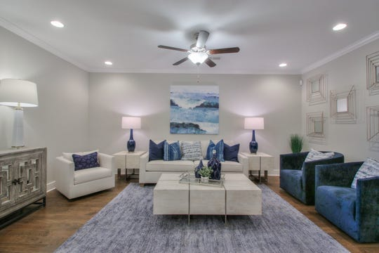 The living room of Goodall's townhomes in Durham Farms has room for plenty of furniture without feeling cramped.