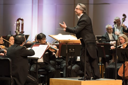 Chicago Symphony Orchestra 2019 Florida tour  Maestro Riccardo Muti conducts the Chicago Symphony Orchestra as they perform a Beethoven Concert at Artis-Naples' Hayes Hall in Naples, Florida.  (©2019 Anne Ryan)