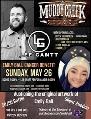 A benefit concert set for Memorial Day weekend will benefit Newark teen Emily Ball, who continues to battle cancer.