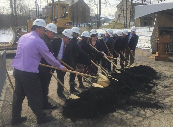 Southwest Licking Schools held an official groundbreaking ceremony on March 1 in the parking lot of the existing high school.