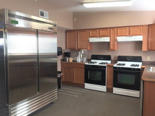 The kitchen at My Friend's Place, the new renovated teen shelter, on 880 E. Idaho Ave.