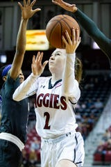 New Mexico State senior Brooke Salas is the second all-time leading scorer in program history.