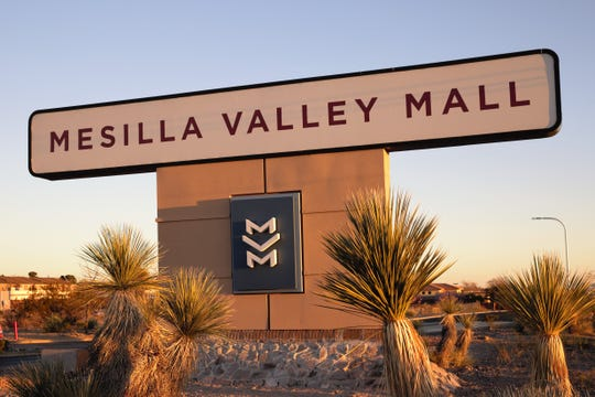 Mesilla Valley Mall's Mall Drive entrance, February 28, 2019.