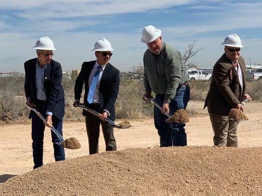 Picutred, from left to right, Carlsbad Mayor Dale Janway, Oscar Quintero, President and General Manager of Permian Resources New Mexico, Occidental Petroleum, Eddy County Commissioner Ernie Carlson, John Waters, Carlsbad Development Department.