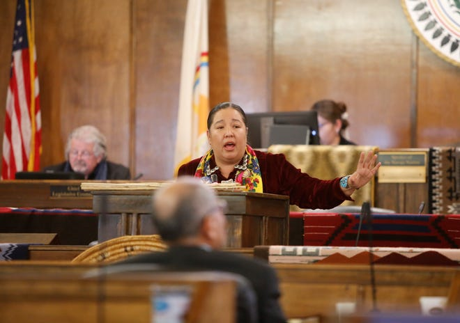 Navajo Nation Council Delegate Amber Kanazbah Crotty sponsored the bill to have the tribe support the development of a task force to address the missing and murdered Indigenous women issue in New Mexico.