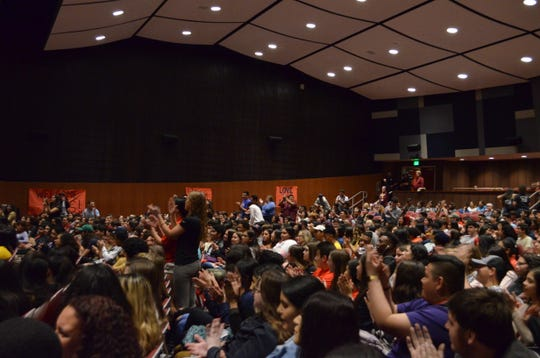 Parkland students visit Palm Springs High School, March 1, 2019.