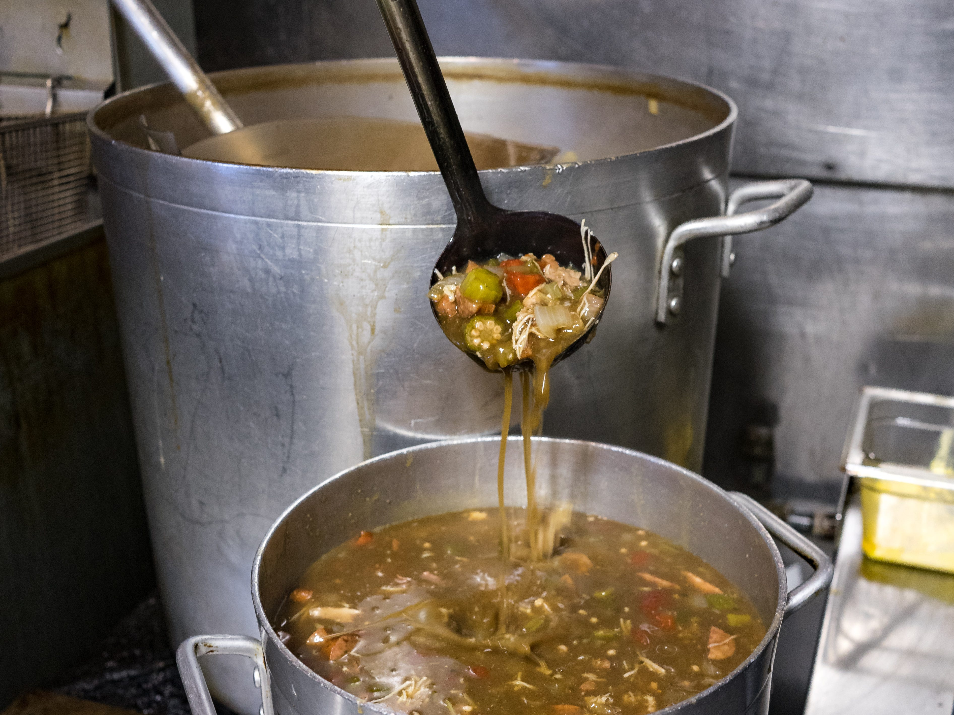 Green Acres Convenient Store, located at 505 E. Johnson Ave., cooks up around 20 gallons of gumbo a day to serve to its customers.