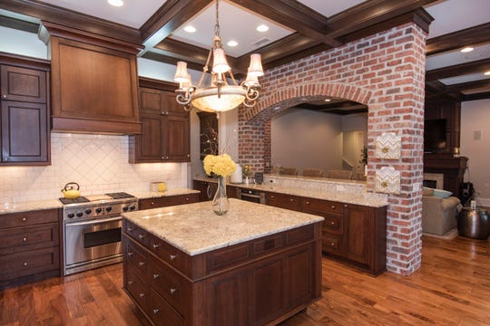 2812 Manor Circle. The gourmet kitchen includes a large island for storage and prep work.