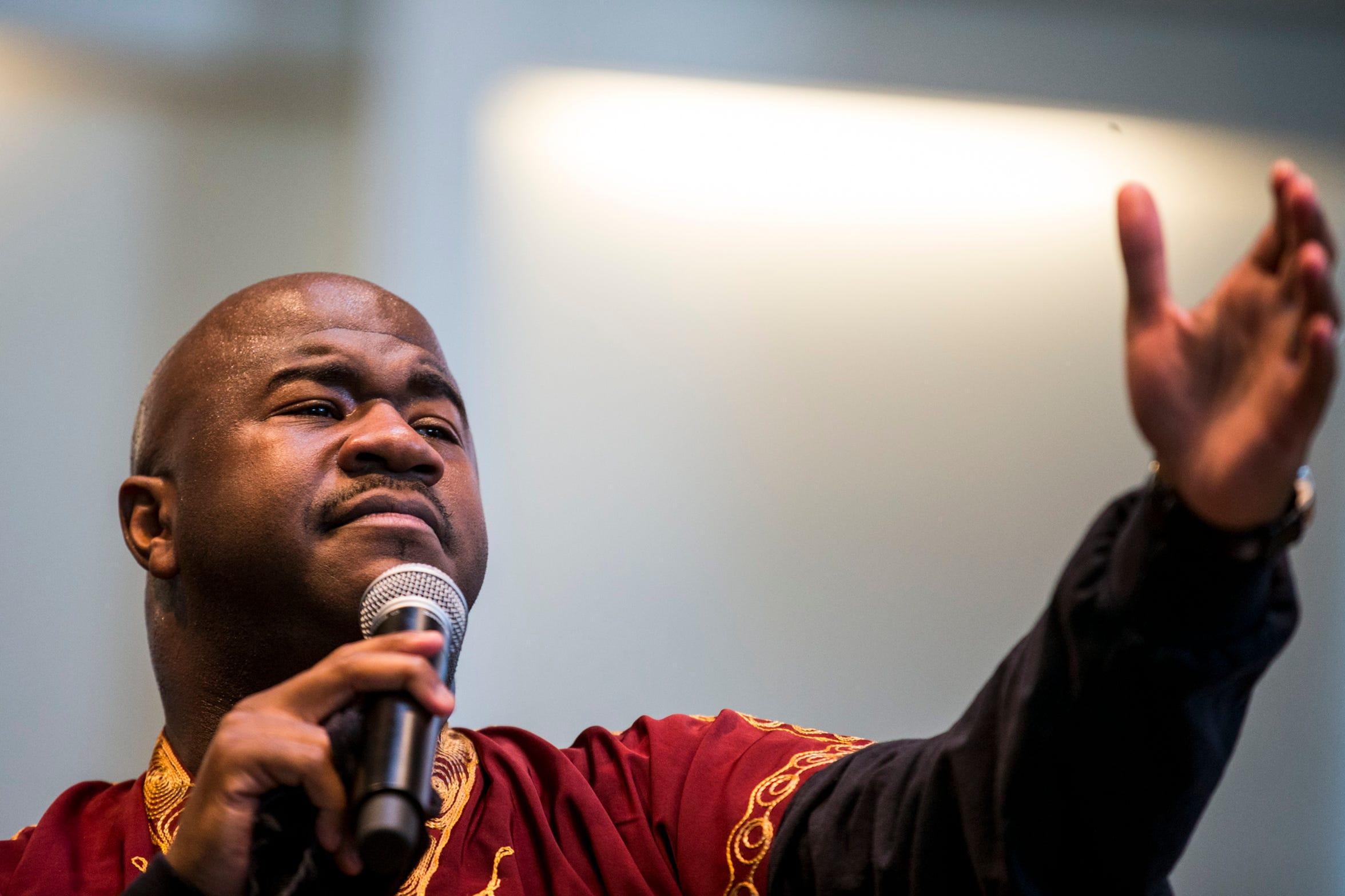 Pastor Terry Mackey.