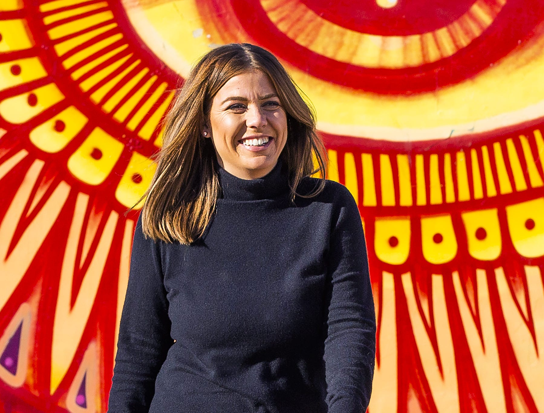 Three new business owners will infuse even more energy to Roosevelt Row in downtown Phoenix. Grace Unger, owner of the restaurant Josephine and the cocktail bar Coupe de Grace, walks through a park at Roosevelt and 2nd Street, Feb. 28, 2019.