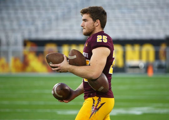 Arizona State punter Michael Turk (25) had punts 64, 62, 65, 49 and 75 yards against Kent State.