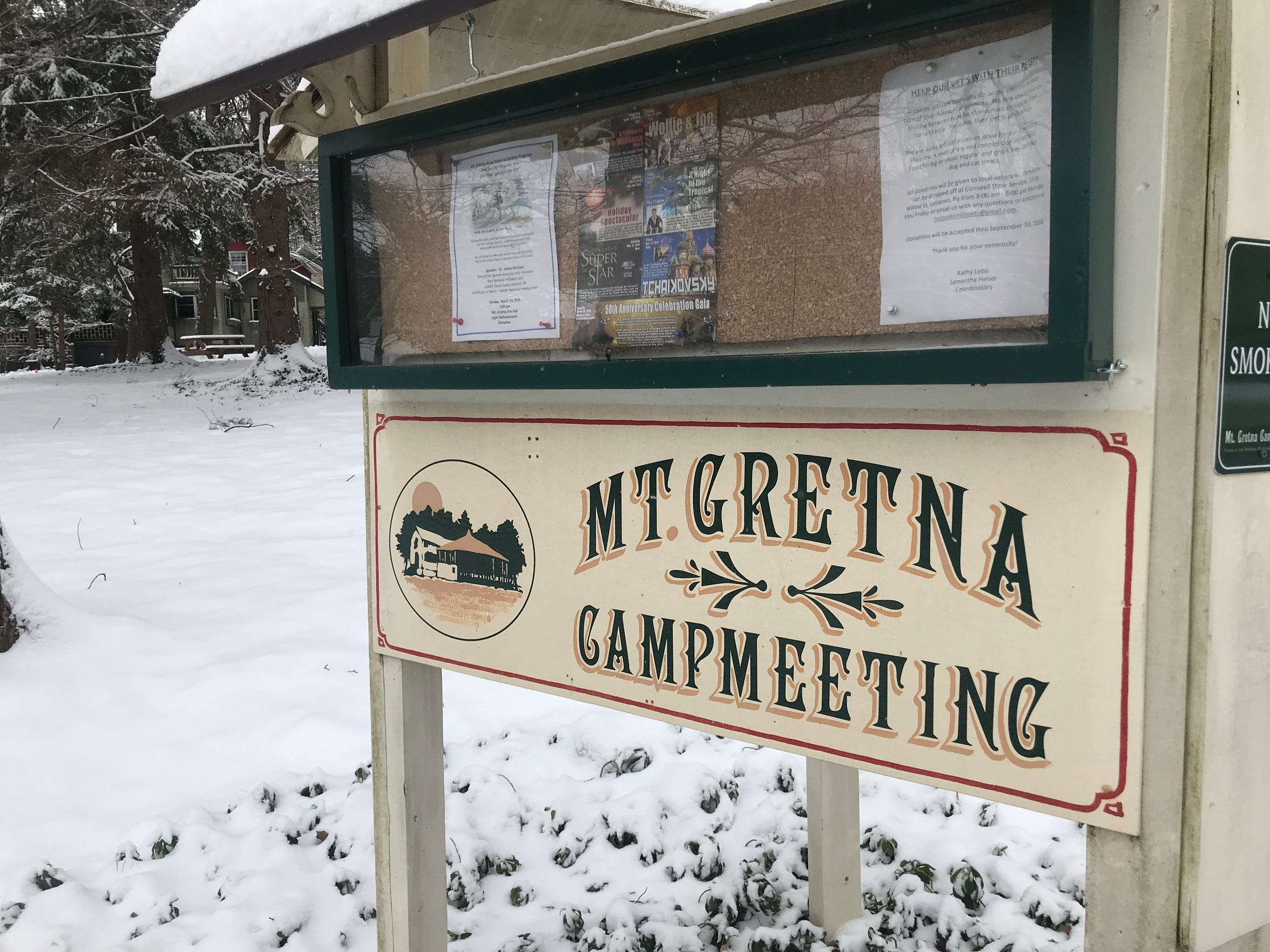 There are about 236 properties in the Mount Gretna Campmeeting, founded in the late 1800s by the forerunner of the United Methodist Church.