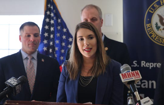 Michelle Hinchey , the daughter of the late Congressman Maurice Hinkley, spoke about how much the Hudson River and valley meant to her father on Friday, March 1, 2019.