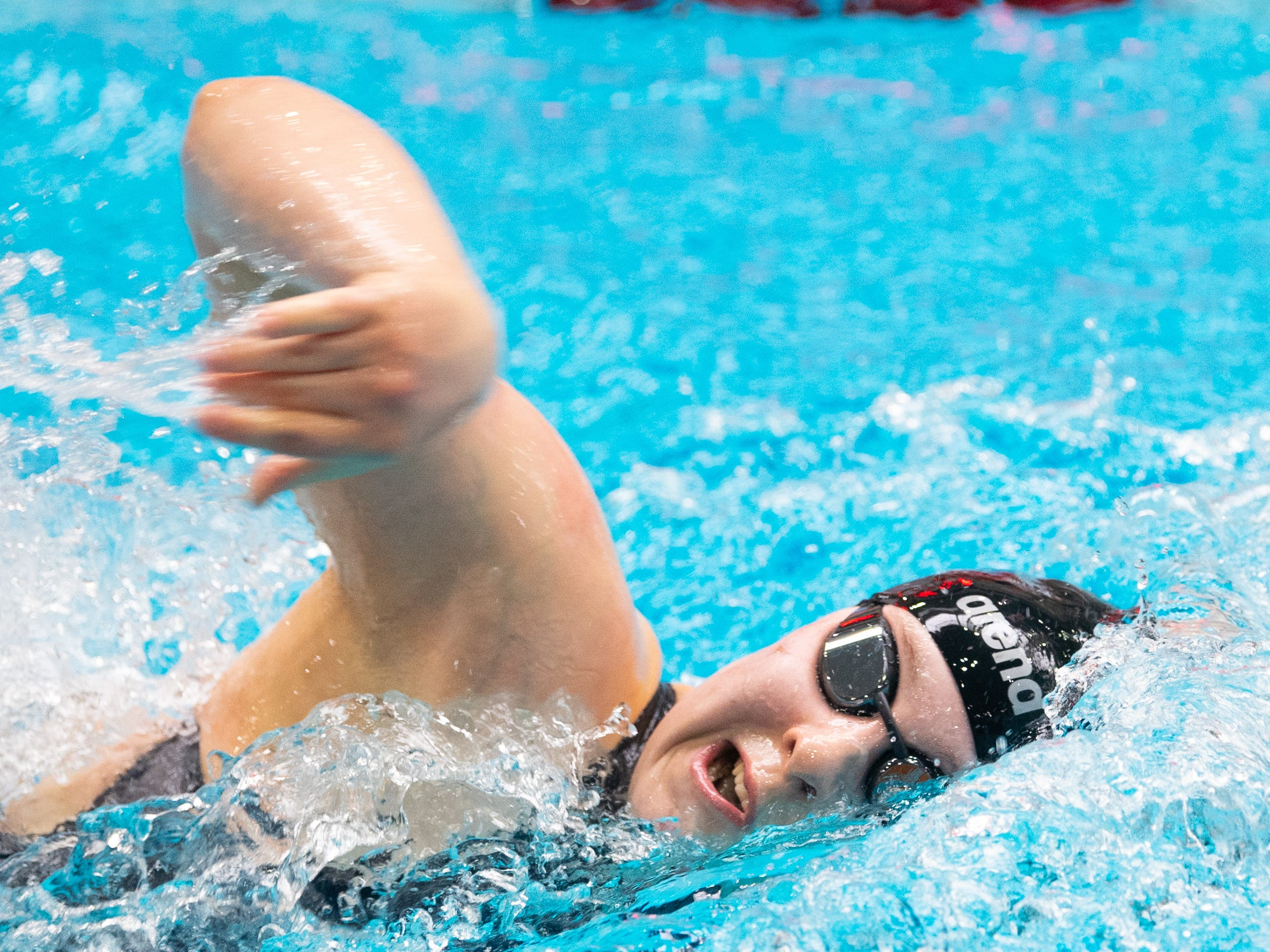 Katie Eisenhofer of Schuylkyll Valley swims in the Girls 200 Yard Freestyle during the PIAA District 3 Girls AA Championship, March 1, 2019 at Cumberland Valley High School.