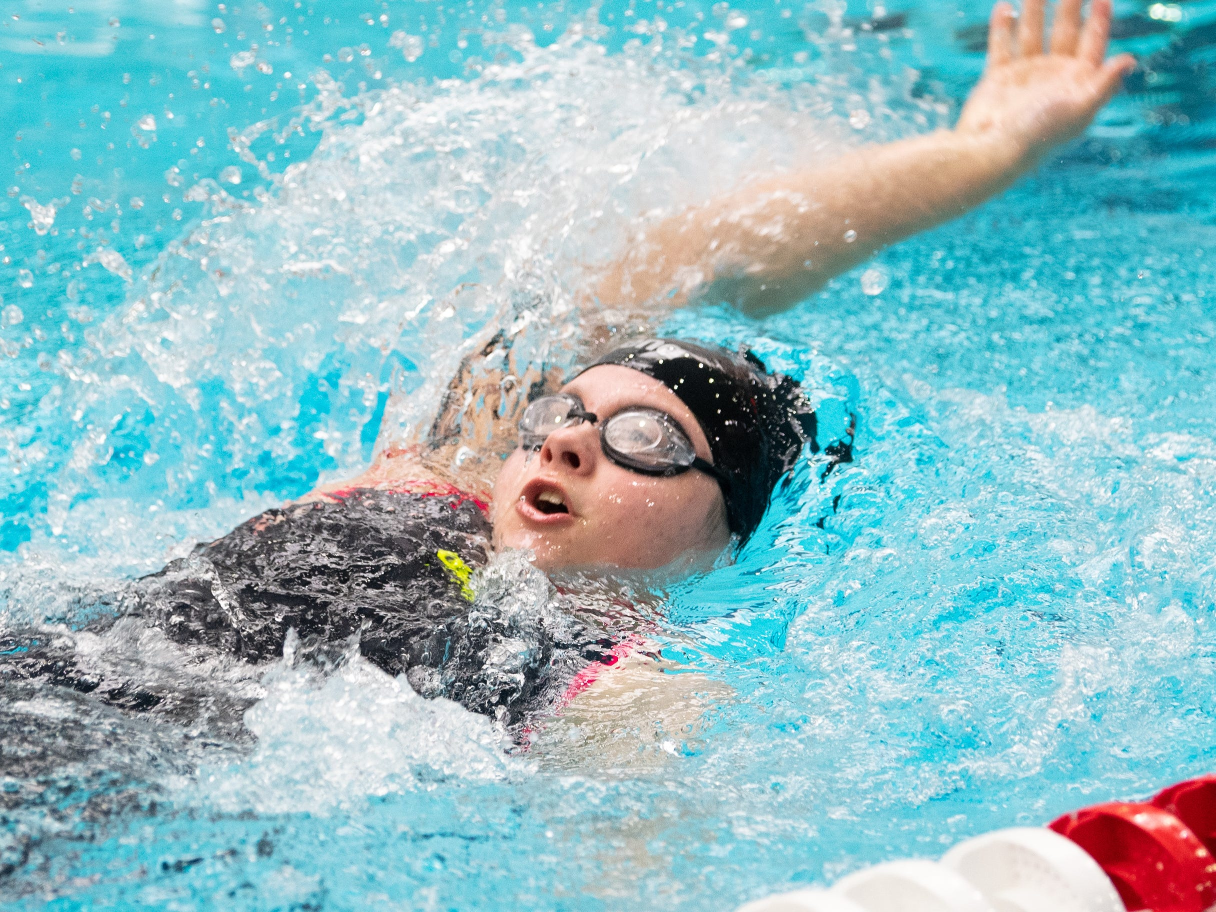 Katelyn Van Der Sleen of Schuylkill Valley competes in the Girls 200 Yard IM during the PIAA District 3 Girls AA Championship, March 1, 2019 at Cumberland Valley High School.