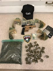Police found more than $19,000 cash, a gun and marijuana while executing a search warrant in York City on Friday, March 1, 2019.