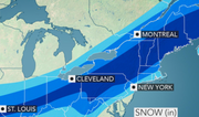 A potent storm on Sunday into Monday could deliver 4 to 8 inches of snow for central Pennsylvania.