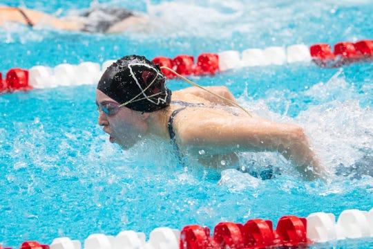Gettysburg's Morgan Newell finished in 12th place after her consolations swim of 58.44 in the 100 butterfly at the 2019 PIAA championships.
