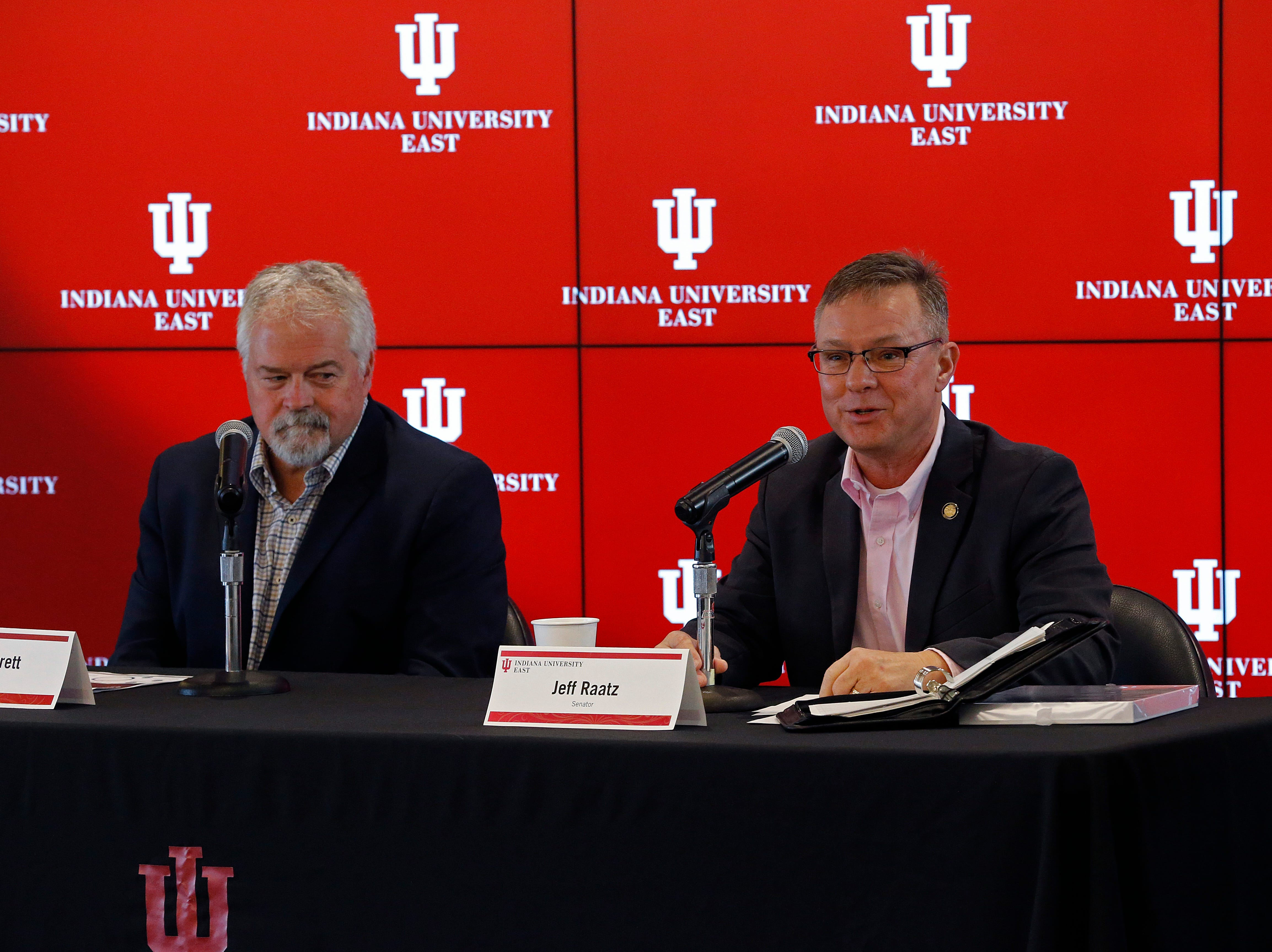 Indiana University East hosted its second Legislative Forum of the year on Friday, March 1, 2019, with State Rep. Brad Barrett and State Sen. Jeff Raatz in attendance.