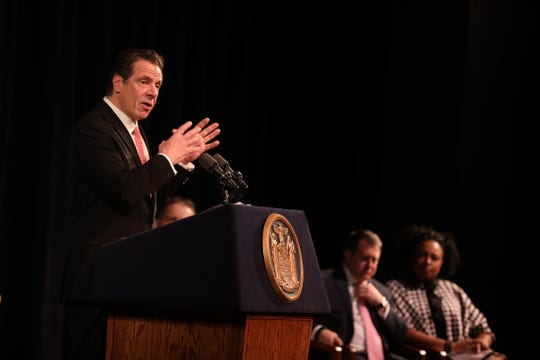 Gov. Andrew Cuomo talks about his budget proposals including making the tax cap permanent and lowering taxes on the middle class.