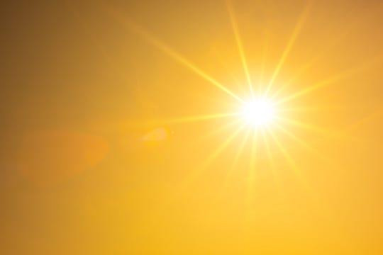 File photo of a hot summer sun