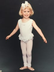 Aqueela Zoll at 4 years old: In her youth, Hollywood actress Aqueela Zoll danced at her grandmother's studio, Dance Depot in Redding.
