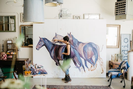 Artist Suzie Burgess.