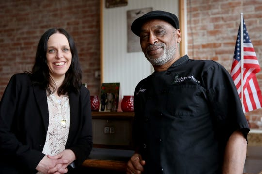 Jeaneen Greenberg and Greggery Peterson stand for a photo at the Independence Grill & Bar in Independence on Thursday, Feb. 28, 2019. Greenberg is the new owner of the restaurant, but former-owner Peterson will stay on as head chef.
