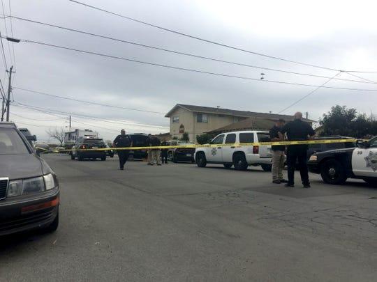 La policía de Salinas responde a un enfrentamiento en East Laurel Drive el 1 de marzo de 2019.