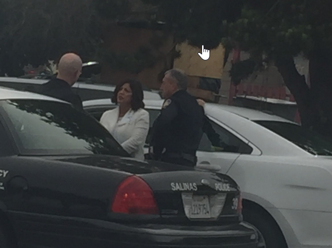 Salinas Police Chief Adele Fresé is at scene of a possible shooting Friday afternoon.