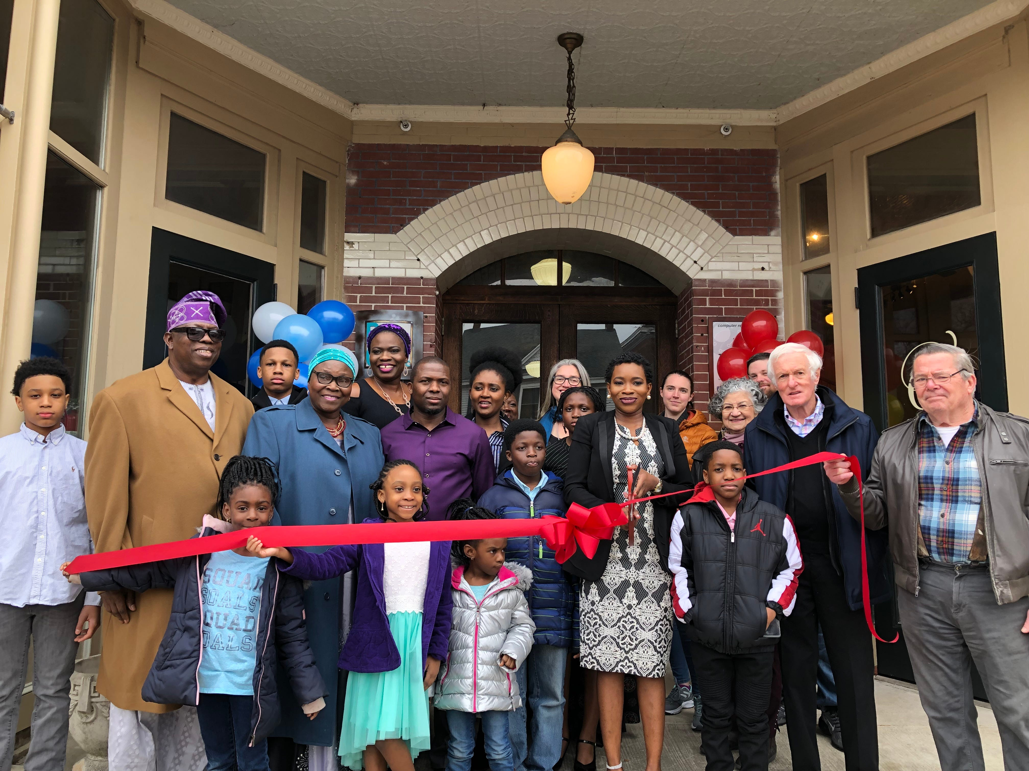 Ganiyat Badmus celebrates the grand opening of her new Princess Anne business, Bluntly Coached, on Saturday, Feb. 23, 2019.