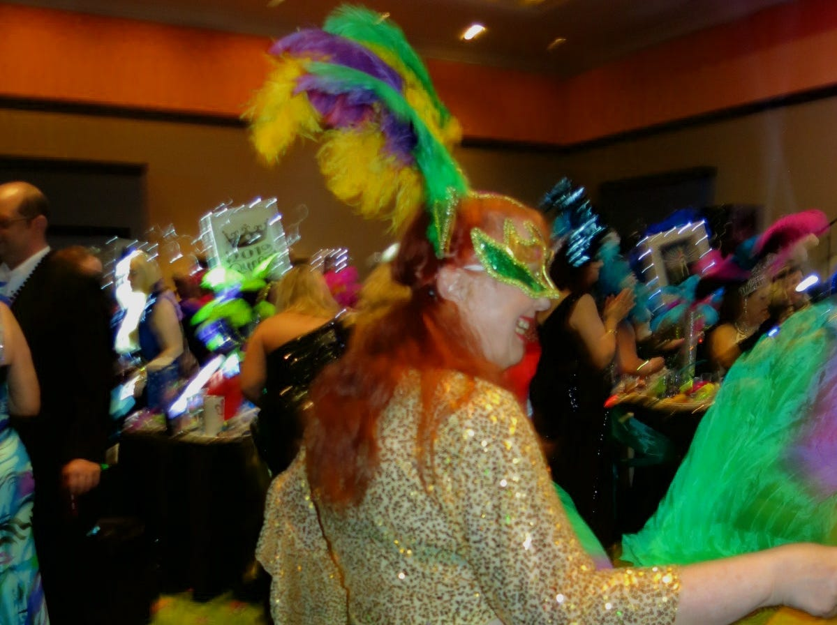 "Krewe de les Femmes Mystique Grand Bal ""Road to Rio"" was Feb. 15 at Diamond Jack Ballroom."