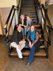 New Levitt at the Falls staff include, clockwise from top left: Laura Mullen (Volunteer Coordinator), Nancy Halverson (Executive Director), Rose Ann Hofland (Director of Community Engagement and Communications), and Tom Eisner (Director of Operations).