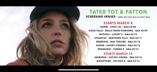 """""""Tater Tot & Patton"""" will show at the Wells Fargo Cinedome in Sioux Falls March 8 through March 10. A Q&A will be held after the March 9 show."""