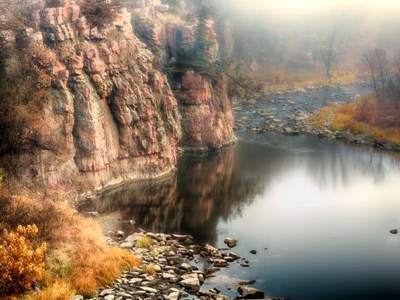South Dakota splendor:  Palisades State Park.