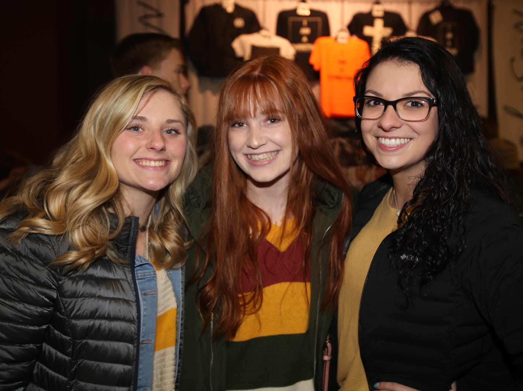 Dominique Schultz, Maggie Wampler, and Mariah Vazquez