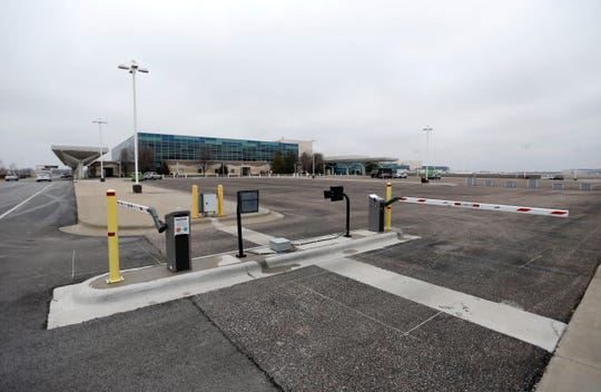 A gate to the taxi lot at the Springfield-Branson National Airport on Friday, March 1, 2019.