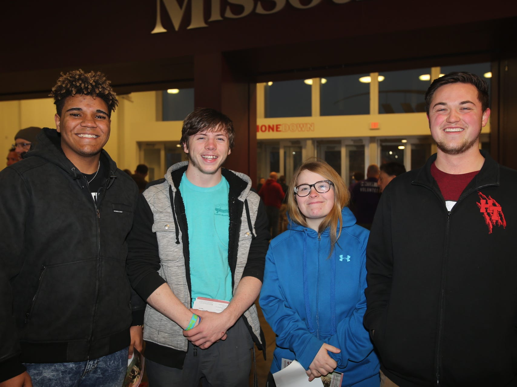 Shawn King, Taylor Coleman, Kaysi Evans, and Nehemiah Carlson